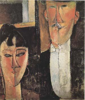 Amedeo Modigliani Bride and Groom  (mk09)